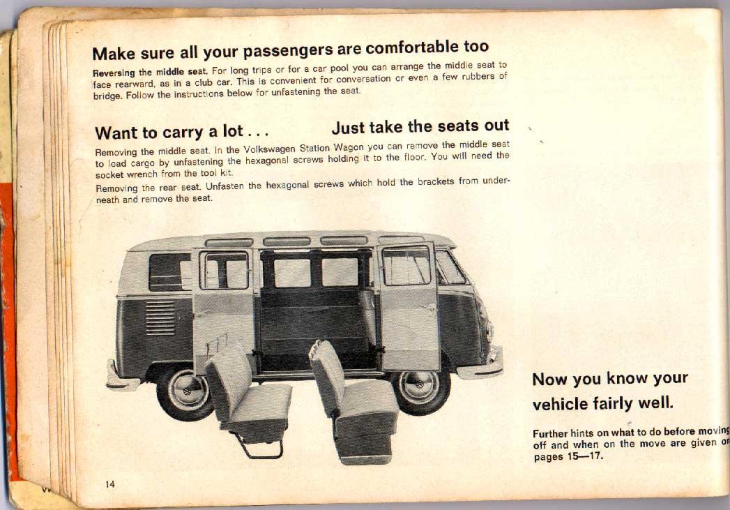 TheSamba com :: 1967 December 1966 VW Bus Owner's Manual