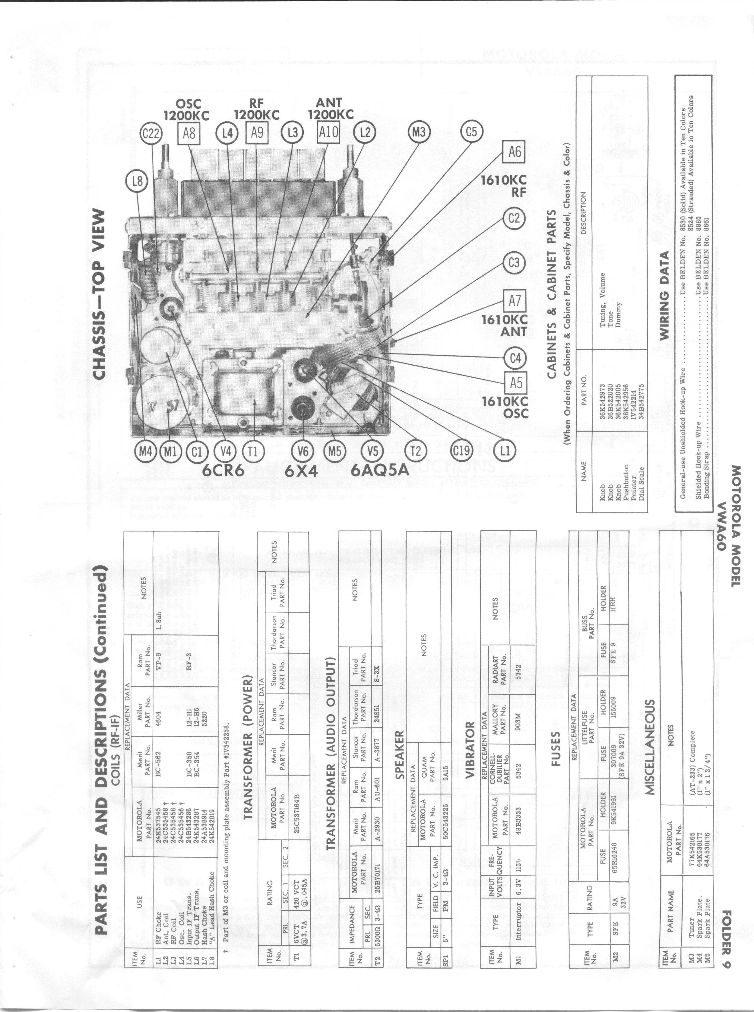 thesamba com    1960 motorola vwa60 radio