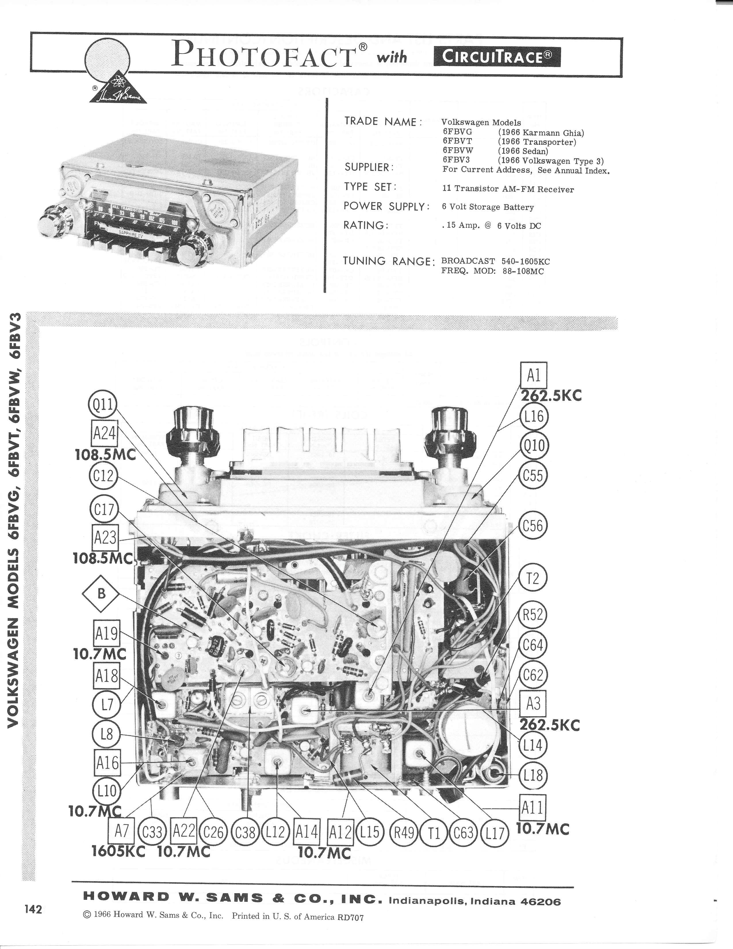 thesamba com    1966 motorola sapphire iv photofact repair