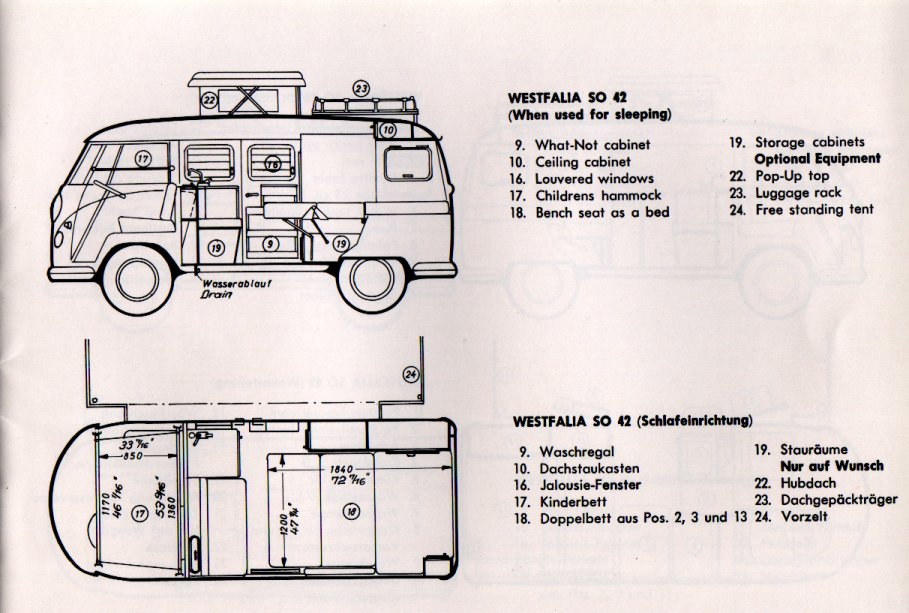 Thesamba Com 1966 Vw Westfalia Camper Bus So 42 Booklet