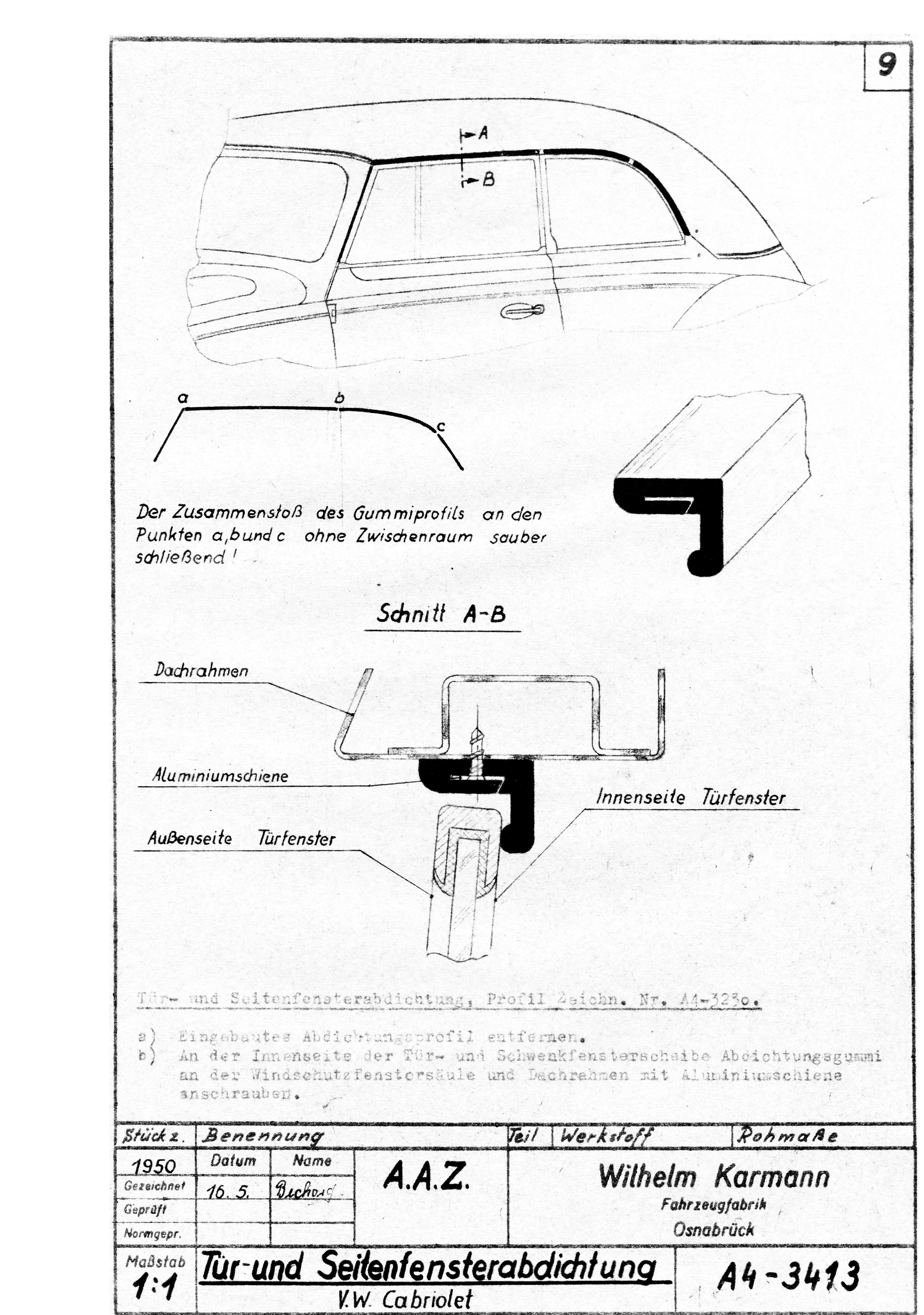 Karmann Split Window Beetle Convertible