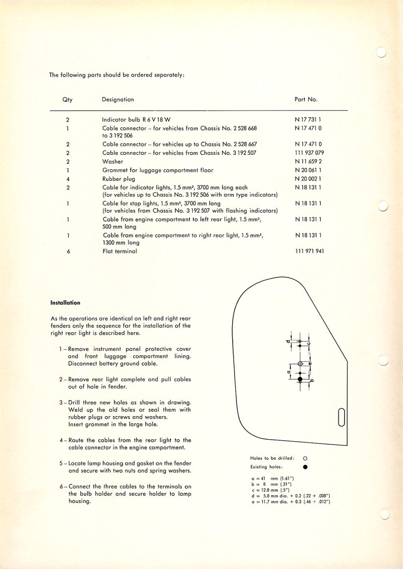 Beetle 1958 1967 View Topic Placing 59 Bug For A 197679 Http Wwwthesambacom Vw Archives Inf Wiringjpg Manuals Techbulletins E12 61 Supp2 Page2
