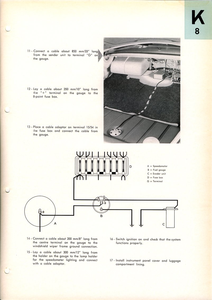 Beetle 1958 1967 View Topic 67 Fuel Gauge Wiring Is The Tank Diagram Including Sending Unit Where