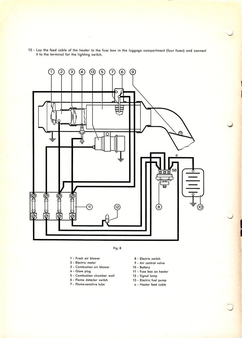 Technical Bulletin Z3 Stationary Heater 55 For Vw 1 9 Fuse Box 10 1955
