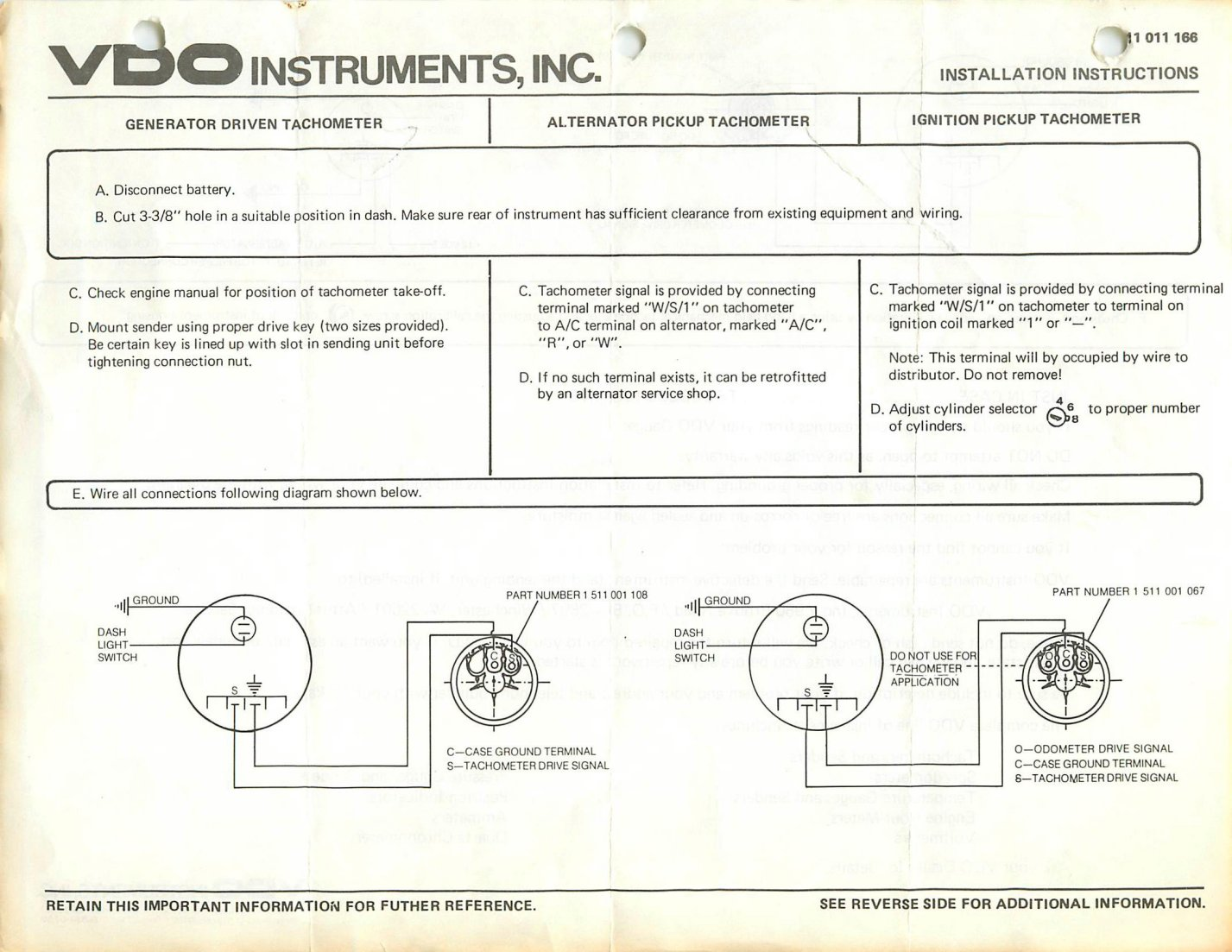 vdo fuel sender instructions