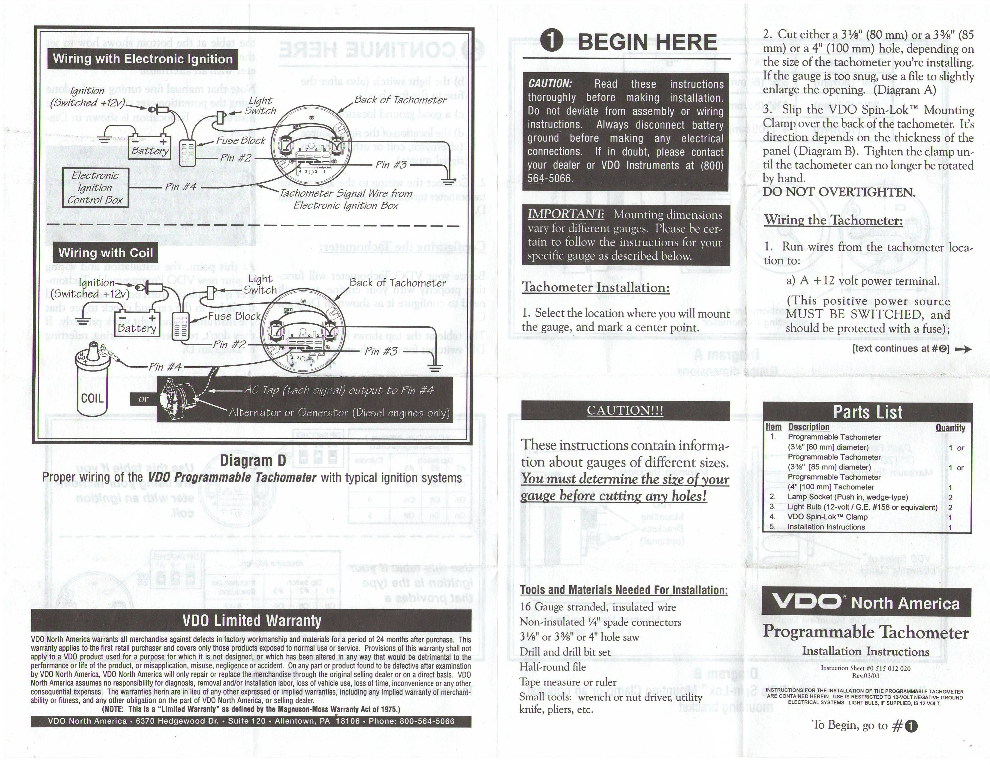 Vw Vdo Tach Wiring Diagram Download Diagrams Boat Tachometer Thesamba Com Programmable Instructions Mercury Outboard Marine