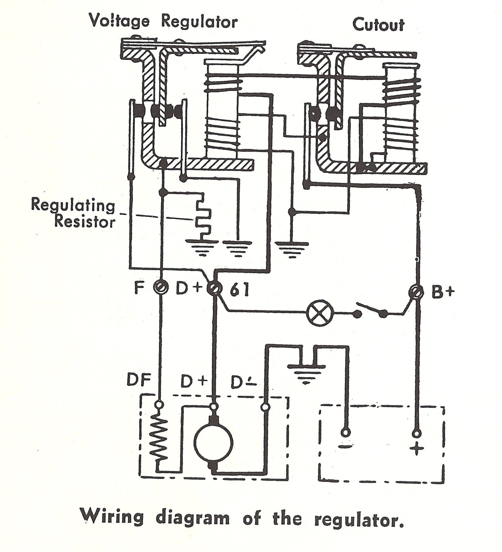 Voltage Regulator Diagram Closeup on vw alternator voltage regulator wiring diagram