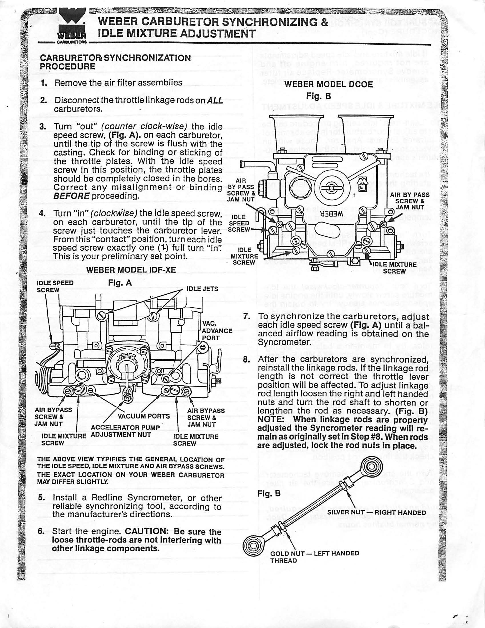 TheSamba.com :: Weber 34 IDF Carburetor Installation ... on