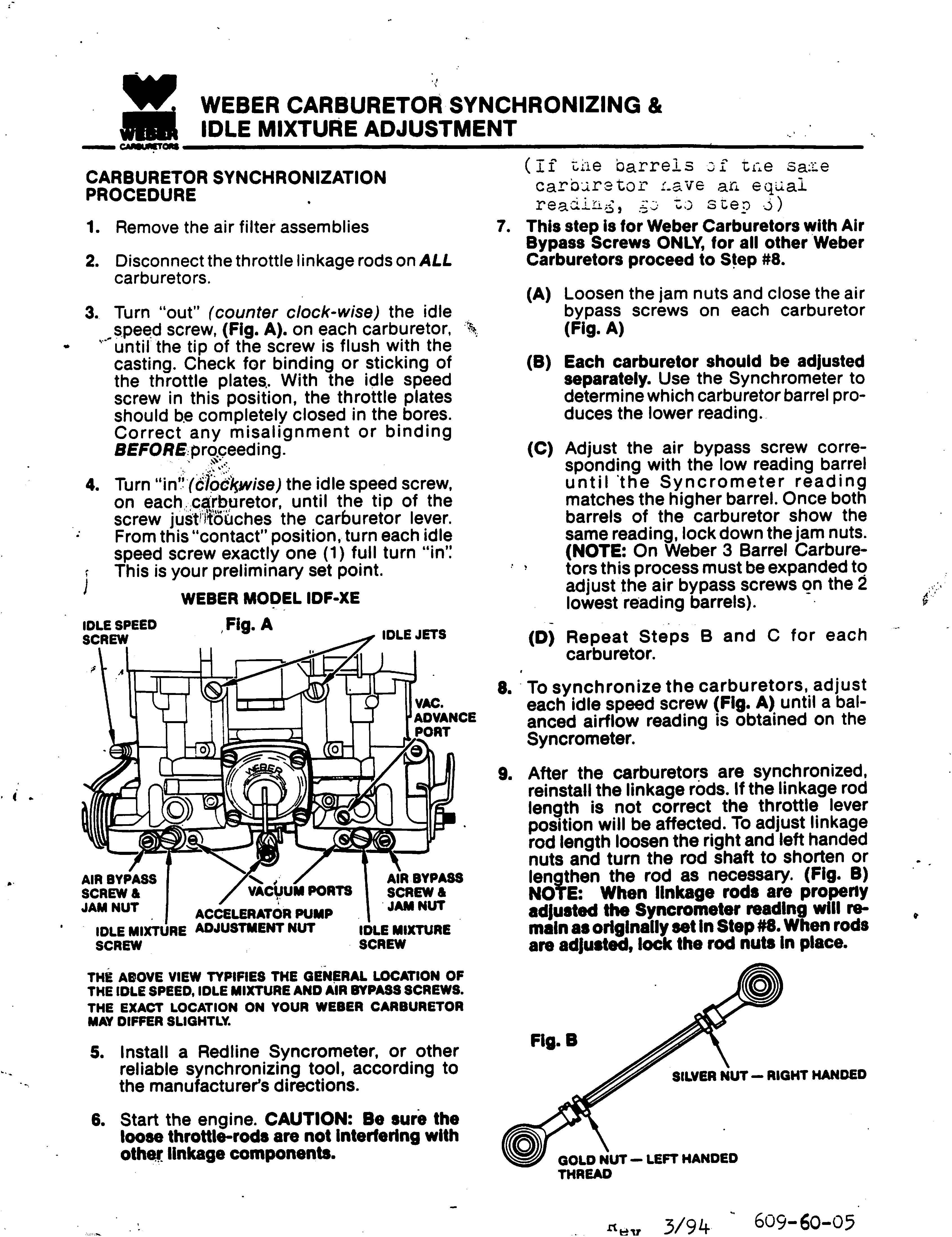 weber carburetor rebuild instructions