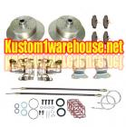 VW rear disc brake kit with ebrake