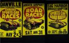 1957 Ghia Porsche 356 550 SCCA Race Poster Tshirts