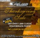 Our 20% Off Thanksgiving Sale is on Now @ Cip1!