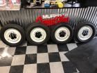 """4 restored 16"""" Barn Door Wheels and new tires"""