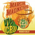 March Madness 25% off sale
