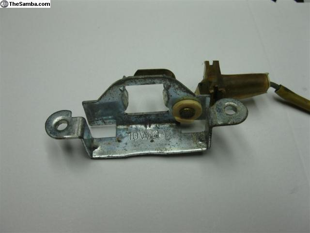 key cylinder and license plate light housing