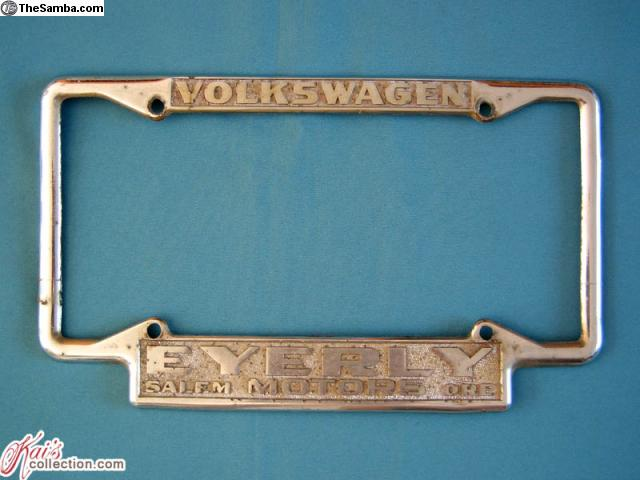 Thesamba Com Vw Classifieds Vw License Plate Frames Collection Sale