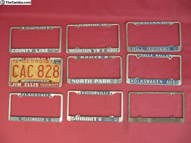 Vintage Vw License Plate Frame