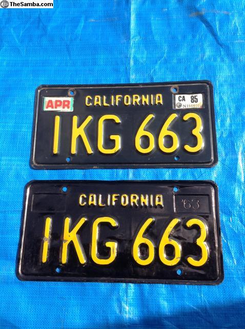 TheSamba com :: VW Classifieds - California License Plates Black and