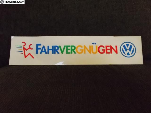 Thesambacom Vw Classifieds Fahrvergnugen Sticker