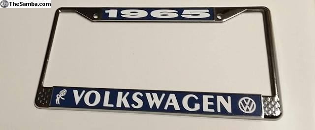 vw classifieds 1965 bubblehead license plate frame. Black Bedroom Furniture Sets. Home Design Ideas