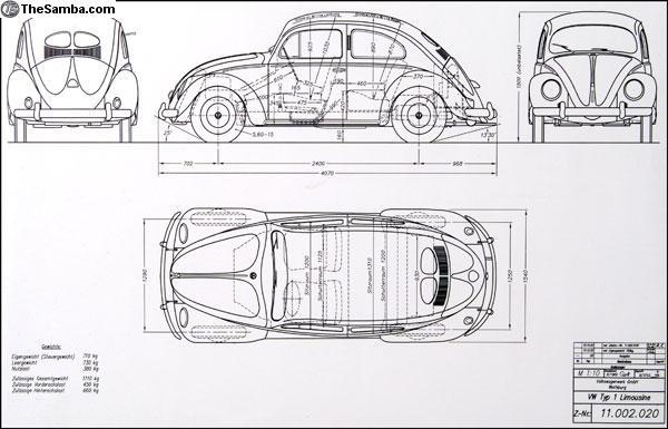 Thesamba Com Vw Classifieds Volkswagen Factory Beetle Blueprint Poster