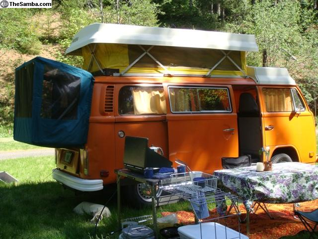 Photo & TheSamba.com :: VW Classifieds - VW Bus Rear Tents u0026 Bed Platforms