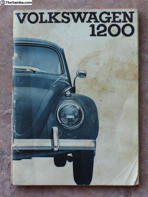 2000 volkswagen bug owners manual