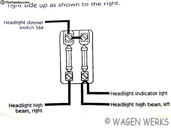 thesamba com :: vw classifieds - karmann ghia fuse box 2 fuses 1956 to 1959  german