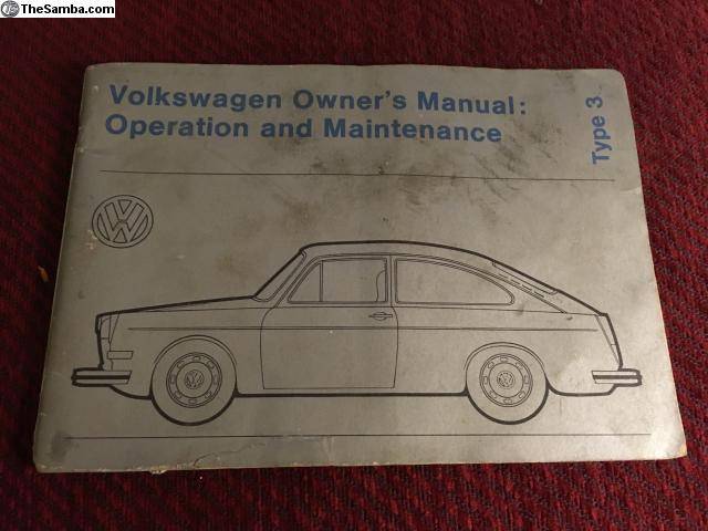 thesamba com vw classifieds type 3 owners manual august 72 rh thesamba com VW Type 5 vw type 3 service manual pdf
