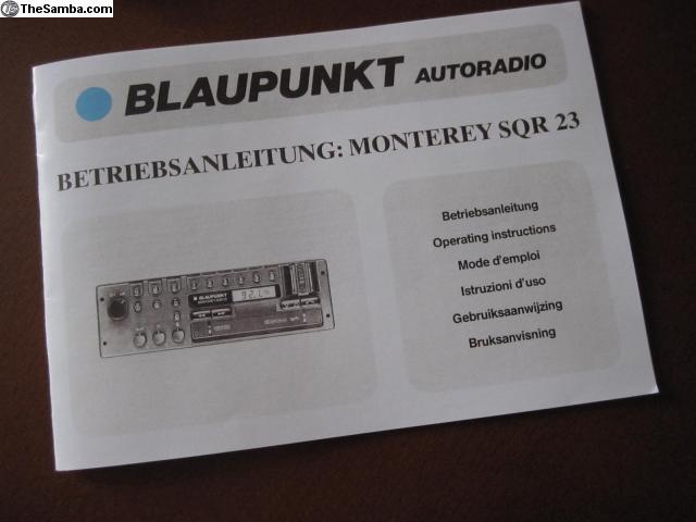 TheSamba com :: VW Classifieds - Blaupunkt Monterey SQR23