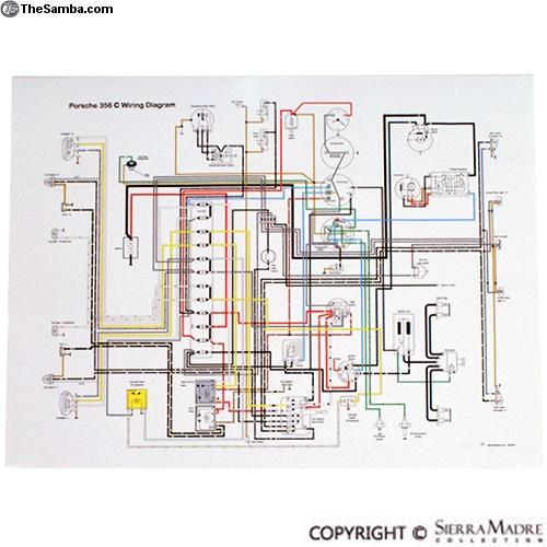 thesamba com vw classifieds full color wiring diagram 356c sc rh thesamba com porsche 356 c wiring diagram