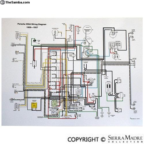 thesamba com vw classifieds full color wiring diagram 356 t1 rh thesamba com Automotive Wiring Diagrams Light Switch Wiring Diagram