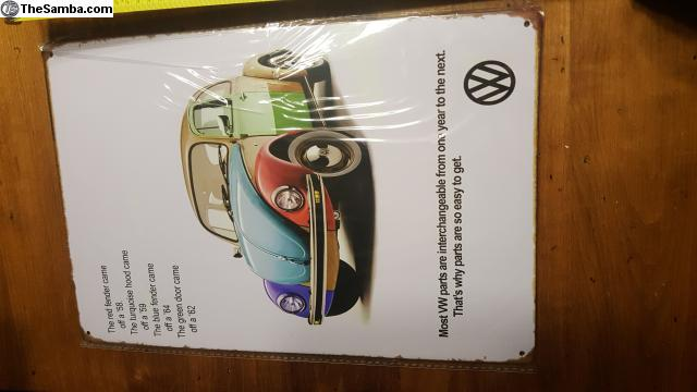 Man Cave Classifieds : Thesamba vw classifieds metal sign man cave garage bug