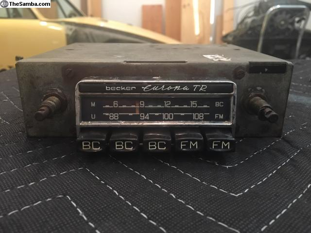 TheSamba com :: VW Classifieds - Becker Europa TR Radio 356