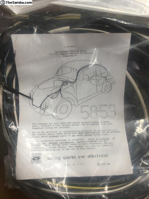 thesamba com vw classifieds new wire works wiring harness 58 59 rh thesamba com Vintage VW Wiring Diagrams 68 VW Wiring Diagram