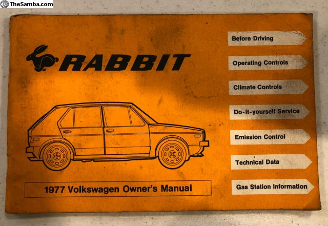 Thesamba Vw Classifieds Owners Manual 1977 Vw Rabbit