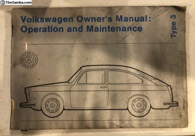 thesamba com vw classifieds owners manual vw type 3 rh thesamba com VW Type 5 VW Type 2