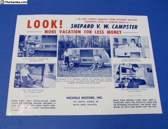 TheSamba com :: VW Classifieds - 1960's Shepard VW Campster Bus