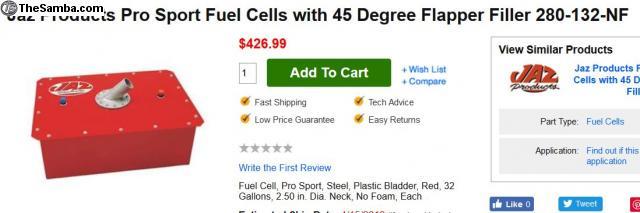 TheSamba com :: VW Classifieds - 32 Gallon JAZ Fuel Cell
