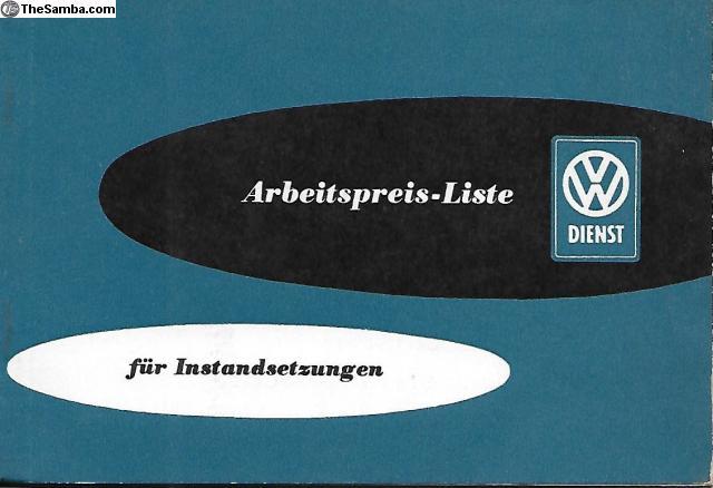 TheSamba com :: VW Classifieds - January 1960 German Labor