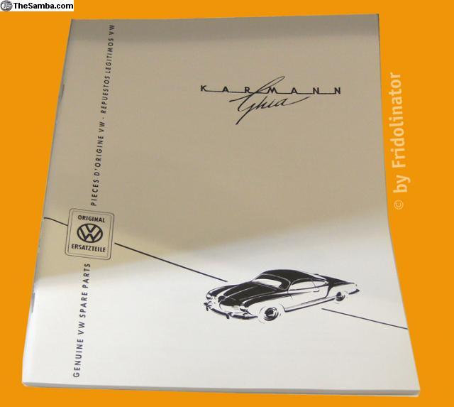 catalogue pièces de rechange karmann ghia 57 8420033