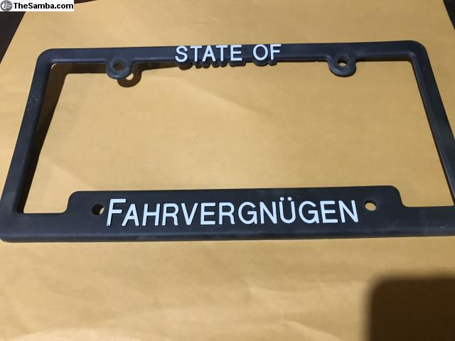 Thesamba Com Vw Classifieds Fahrvergnugen License Plate Frame Check out inspiring examples of farfegnugen artwork on deviantart, and get inspired by our community of talented artists. fahrvergnugen license plate frame