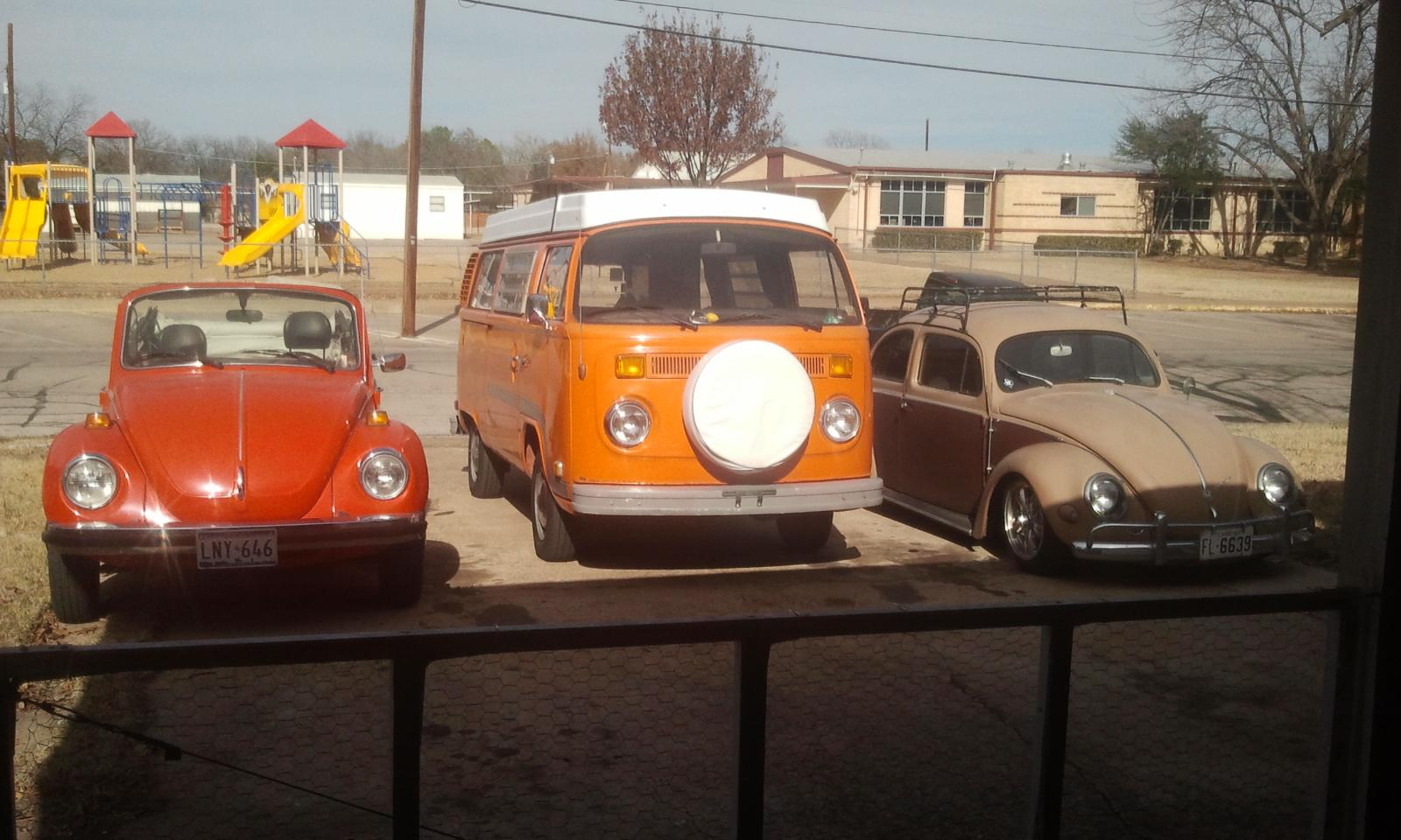 My 3 VDubs...Two fat chicks and an Oval '77 Vert, '75 Westy, '57 Oval