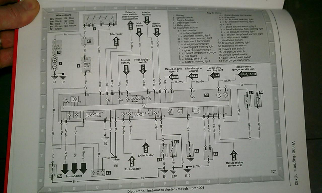 97 Pat Tdi Wiring Diagram Start Building A Fuse Box Thesamba Com Gallery Vw Polo Aef Diesel Instrument Cluster Rh Vtec