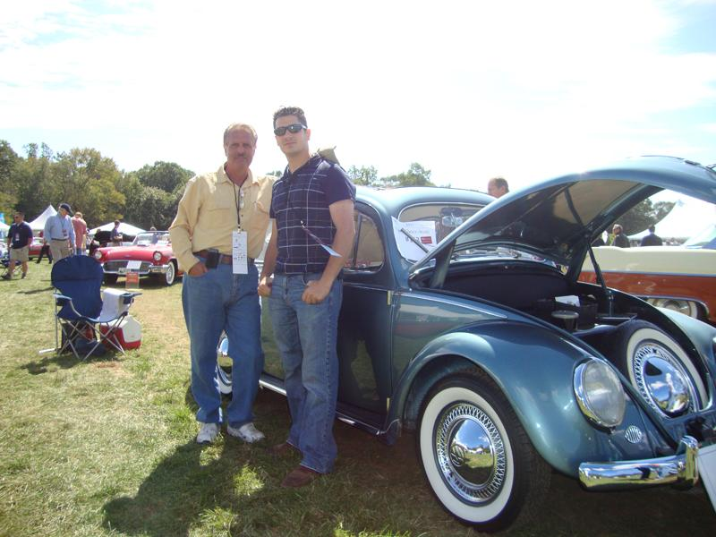 Chris Vallone & Father at the Concours D' Elegance with 1955 Ragtop