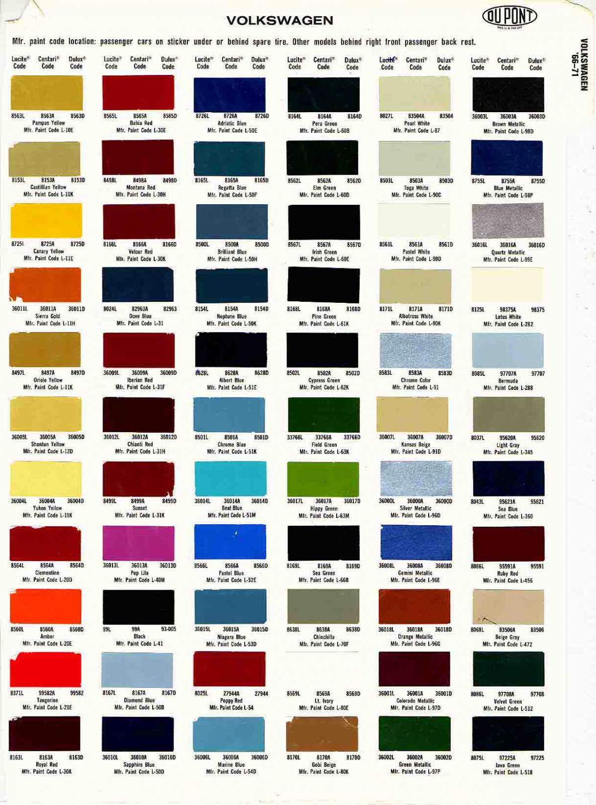 Mercedes interior color codes for Paint color codes for houses