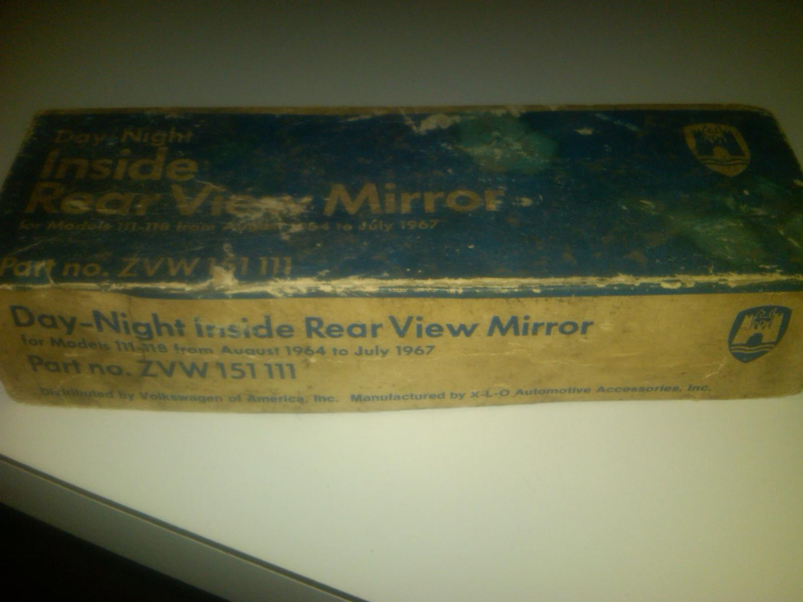 box from nos VWOA day / night mirror