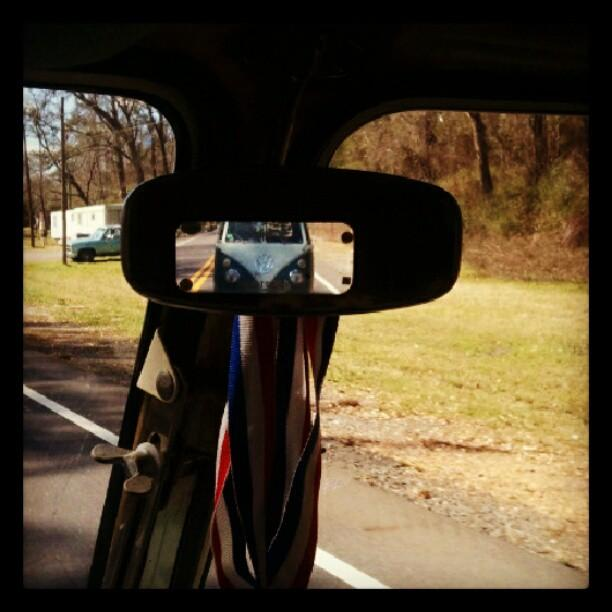 Sal in my rear view