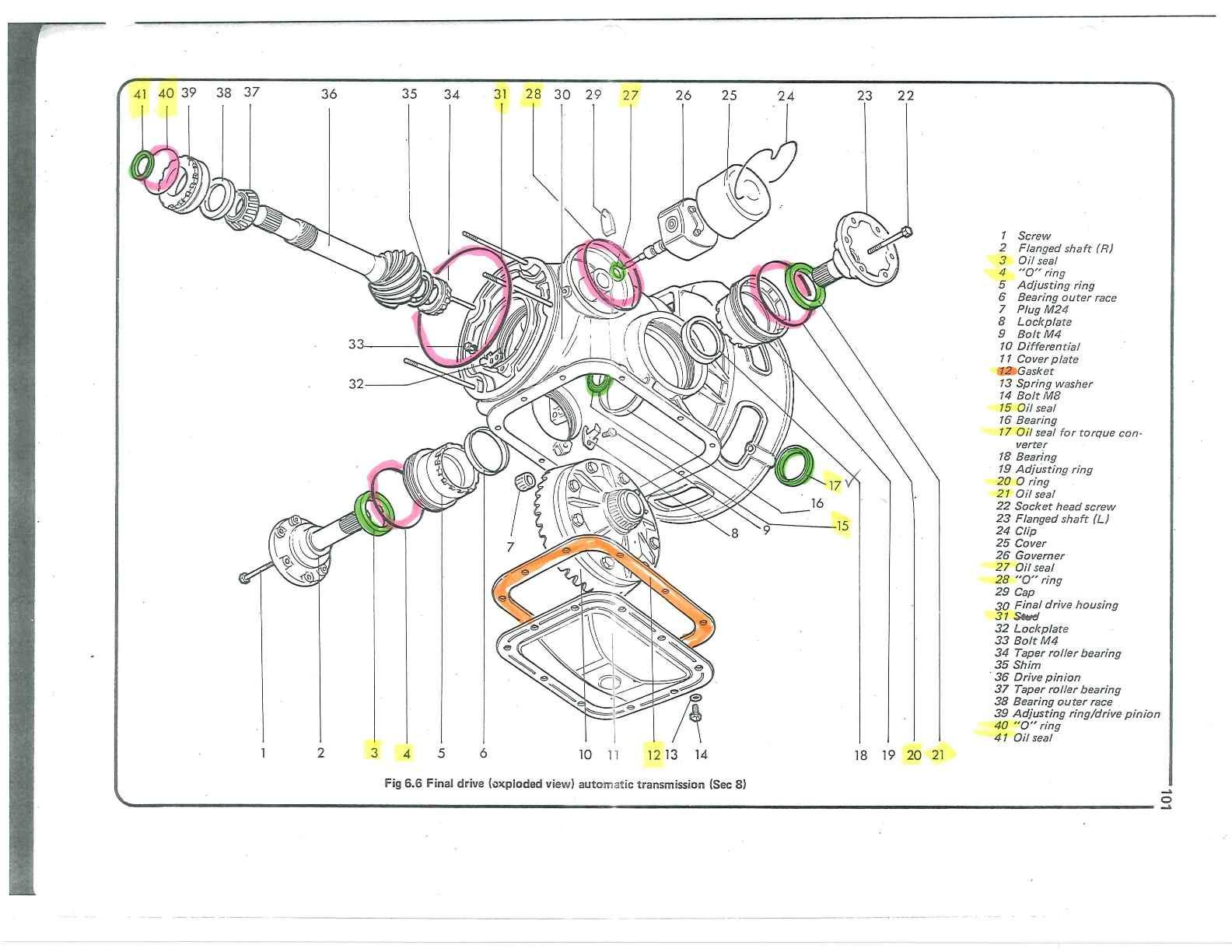 vw bus transaxle diagram