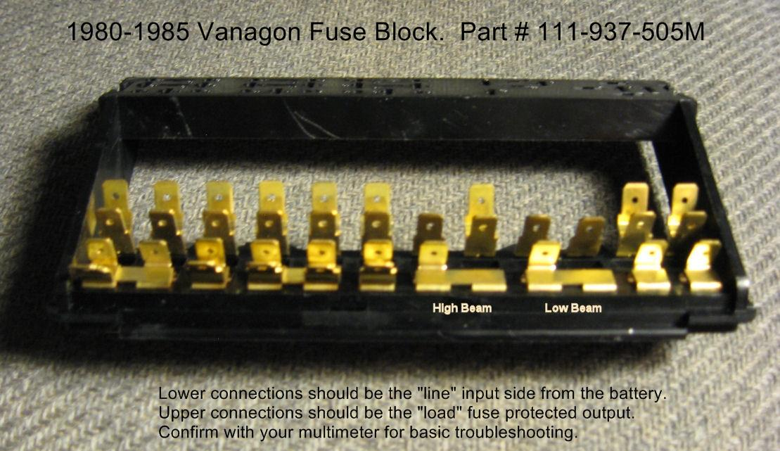 1054456 thesamba com vanagon view topic dang fuse panel gremlins 1985 VW Vanagon at n-0.co